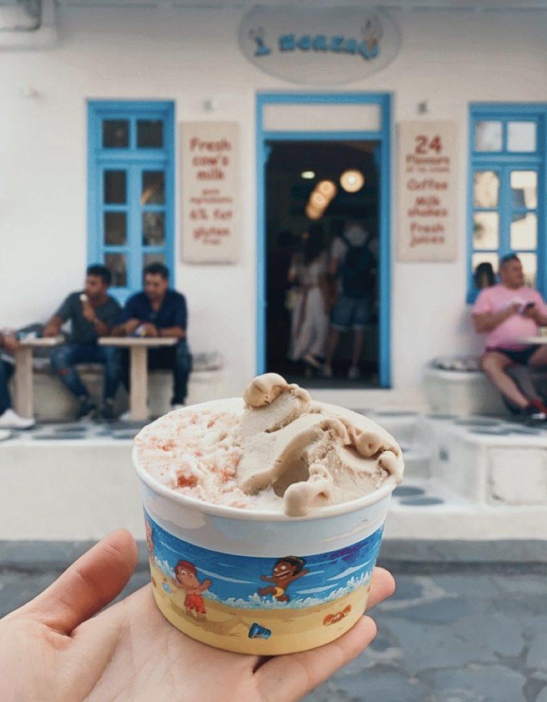 Mykonos ice cream