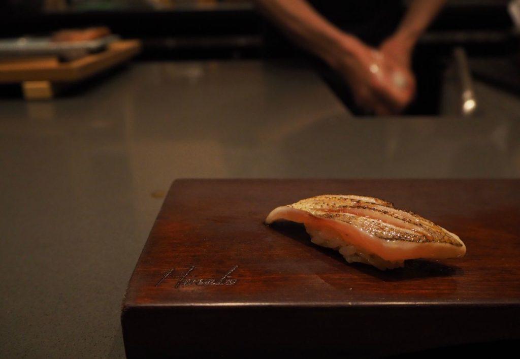 Seared barracuda